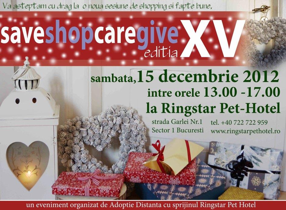 Save&Shop, Care&Give, editia XV si ultima a anului 2012 :)